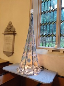 Our 'Poetree', a contribution to the 2019 Christmas Tree Festival at St Mary's Church, Oldswinford